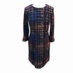 Madison Leigh 3/4 Sleeve Sheath Dress 10 Black